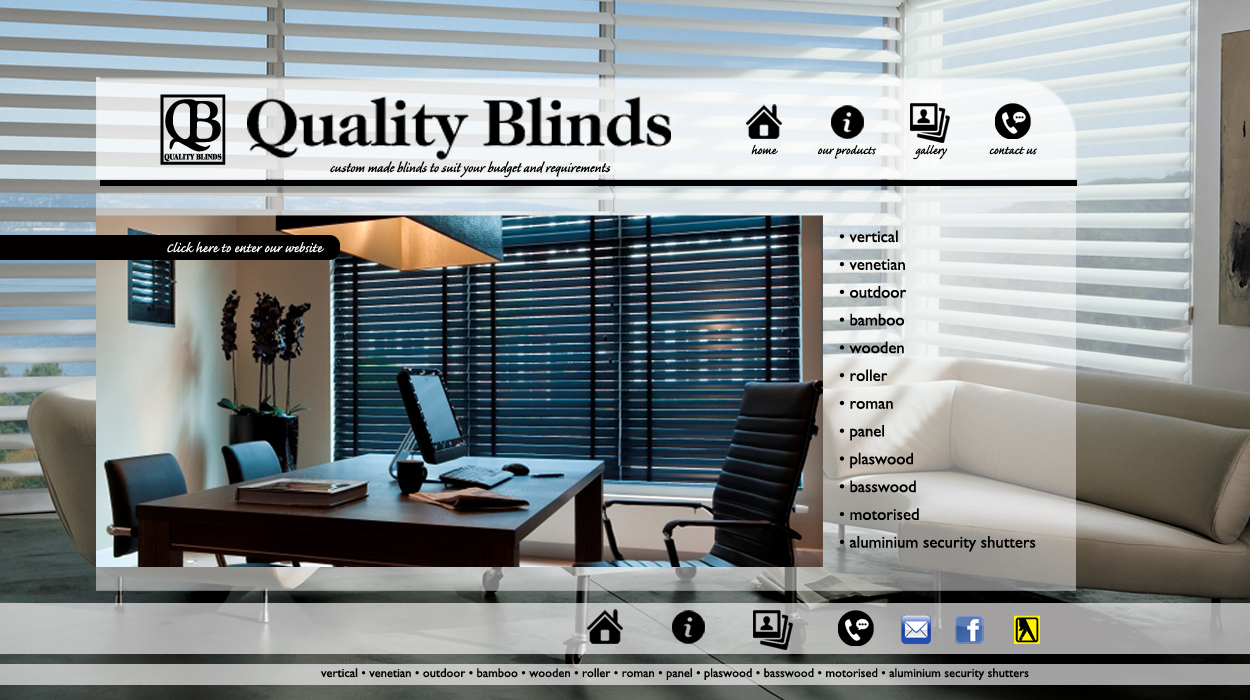 Quality Blinds contact page vertical blinds venetian blinds